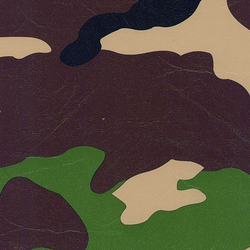 Woodland Camouflage Vinyl Woven Fabric