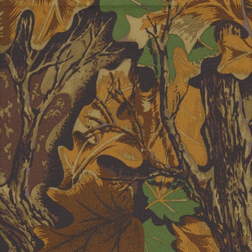 Pro Tuff WaterProof 20 Ounce Camouflage Oak Leaf Canvas Woven Fabric