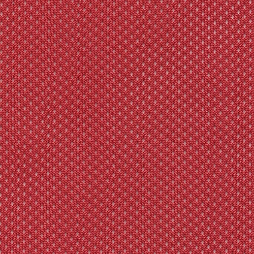 Red Stiff Football Mesh Knit Fabric