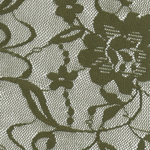 Olive Amelia Stretch Lace Knit Fabric