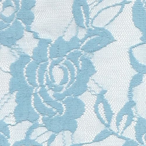 Blue Stretch Lace Knit Fabric