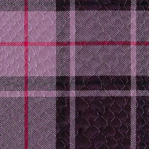 Wine/Lavender #6 Suiting Plaid Woven Fabric
