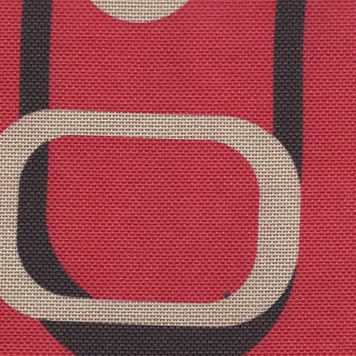 Pro Tuff Retro Red Print Waterproof 20 Ounce Canvas Woven Fabric