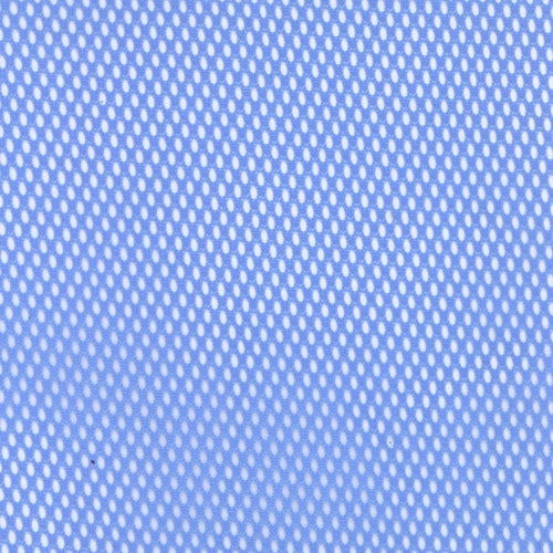Blue Football Mesh Knit Fabric