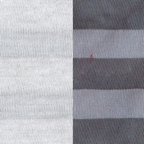 White PFD Jersey #4 Poly/Cotton Stripe Knit Fabric