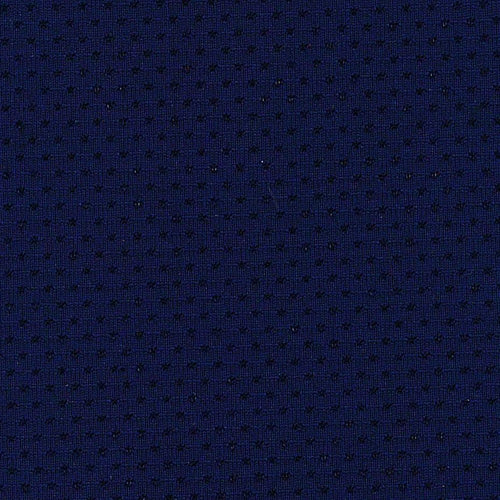 Navy Stretch Pin Dot Mesh Athletic Knit Fabric