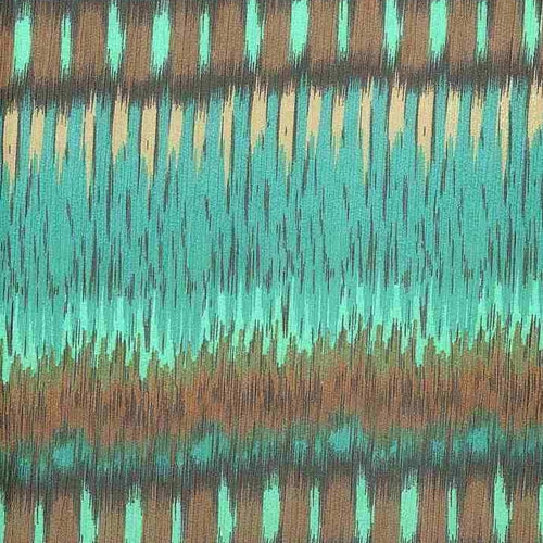 Teal/Brown Margo Chiffon Print Woven Fabric (100 Yards Roll) - SKU MYL