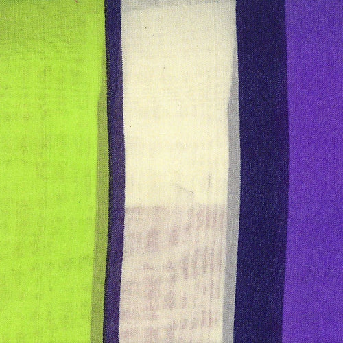 Apple #S155 Stripe Polyester Chiffon Print Woven Fabric - SKU 4574A