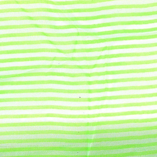 Apple 1/8 Inch Stripe Polyester Chiffon Print Woven Fabric - SKU 4574A