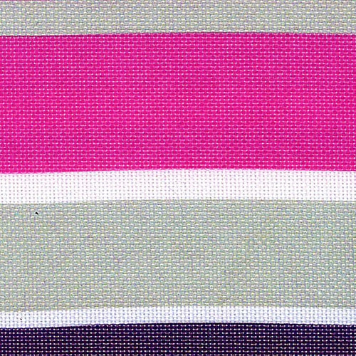 Pro Tuff Awning Stripe Fuchsia Grey Waterproof Print Canvas Woven Fabric