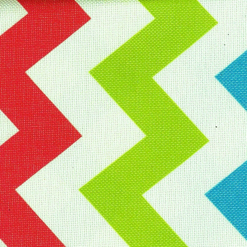 Pro Tuff Chevron Multi Waterproof Print Canvas Woven Fabric