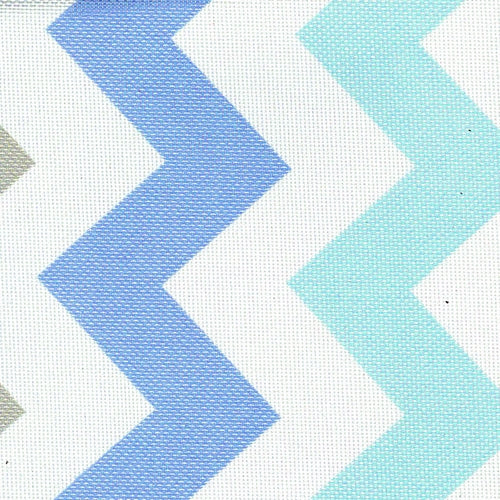 Pro Tuff Chevron Blue Waterproof Print Canvas Woven Fabric