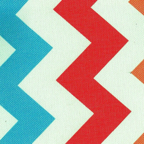Pro Tuff Chevron Coral Waterproof Print Canvas Woven Fabric