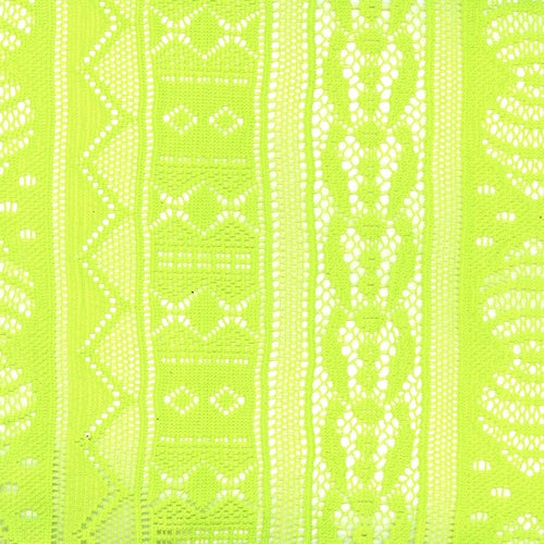 Kiwi Paltery Crochet Lace Knit Fabric