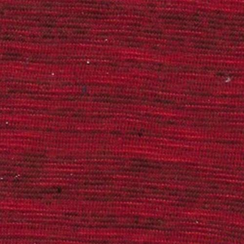 Red Crossdye Slub Jersey Knit Fabric