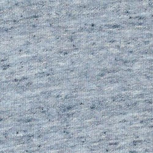 Navy/White Linen Jersey Knit Fabric