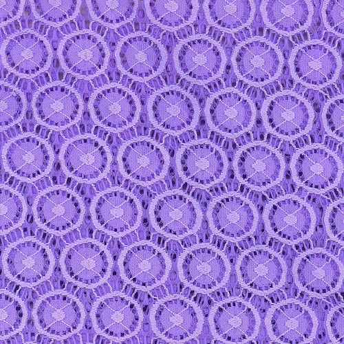 Lavender Crochet Lace Knit Fabric