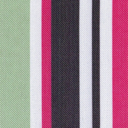 Pink ProTuff Stripe Outdoor Canvas Woven Fabric