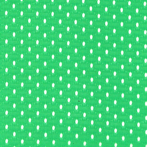 Green Football Mesh Knit Fabric