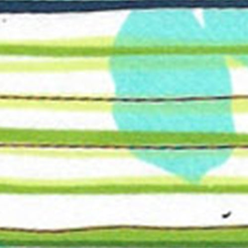 Turquoise Horizon Cotton/Spandex Stretch Stripe Woven Fabric - SKU 4794B