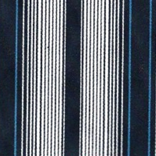 Blue Stripe Cotton/Spandex Stretch Stripe Woven Fabric - SKU 4794B