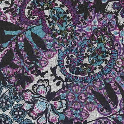 Devon Purple Bubble Crepe Print Woven Fabric (100 Yard Roll) - SKU MYL