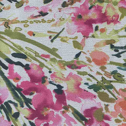 Iris Geranium Bubble Crepe Print Woven Fabric (Sold by the Roll) - SKU MYL