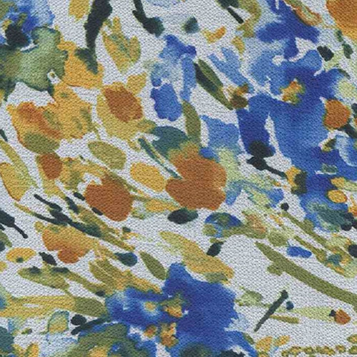 Iris Ivory Bubble Crepe Print Woven Fabric (Sold by the Roll) - SKU MYL