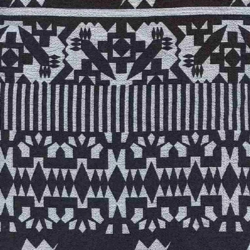 Mantra Black/White Bubble Crepe Print Woven Fabric (100 Yards Roll) - SKU MYL