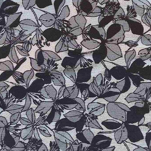 Stella Black/Grey Bubble Crepe Print Woven Fabric (100 Yards Roll) - SKU MYL