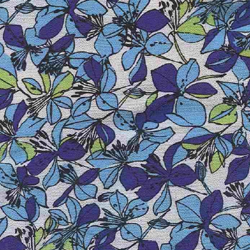 Stella Lagoon Bubble Crepe Print Woven Fabric (Sold by the Roll) - SKU MYL