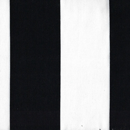 Black/White Referee Stripe Twill Woven Fabric