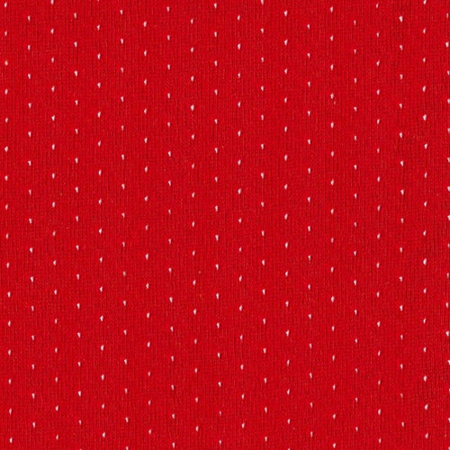 Deep Red Football Mesh Knit Fabric