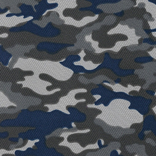 Navy Dimple Mesh Camouflage Knit Fabric