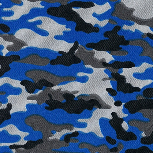 Royal Dimple Mesh Camouflage Knit Fabric