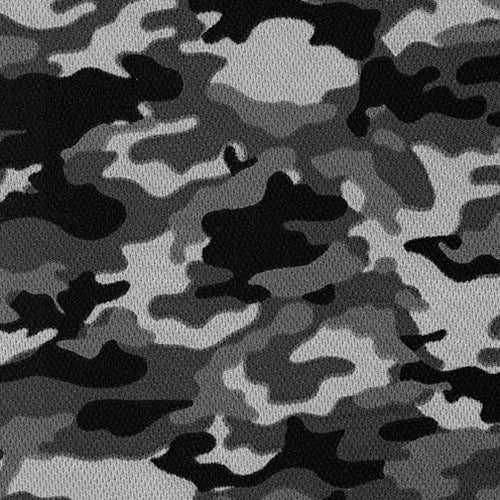Charcoal Dimple Mesh Camouflage Knit Fabric