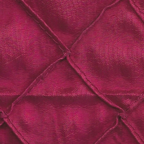 Fuschia 1 Stitched Diamond Tafetta Woven Fabric""