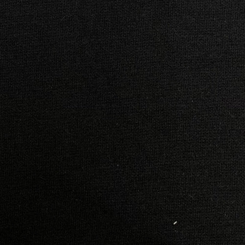 Black Cotton/Lycra Ponte Double Knit Fabric