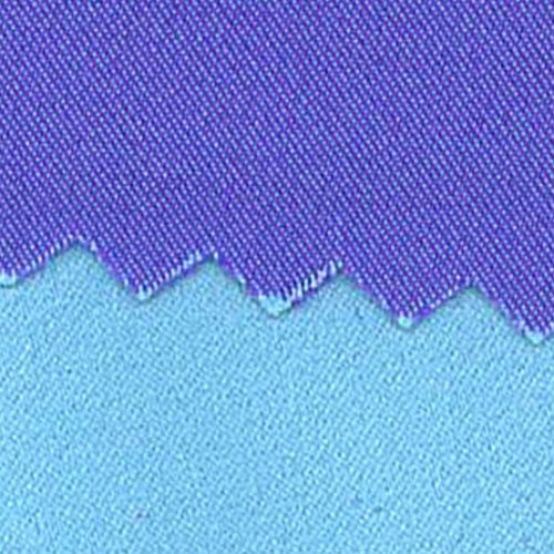 Aqua/Purple Reversible Stretch Satin Woven Fabric