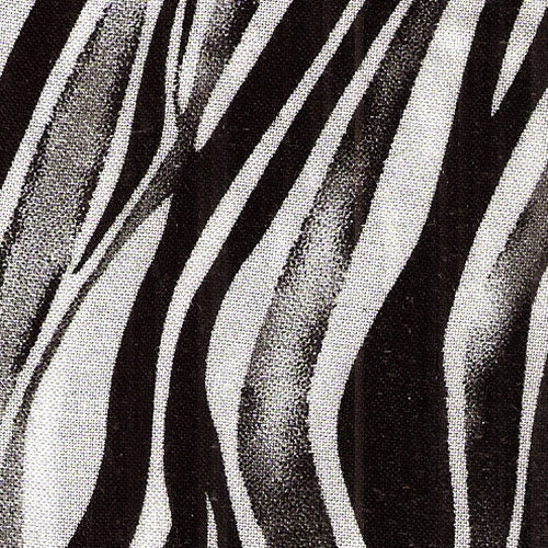 Wavy Zebra Skin Print Woven Fabric (100 Yards Roll) - SKU MYL
