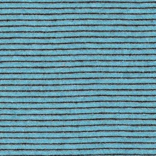 Aqua #S92 Stripe Double Face Jersey Knit Fabric