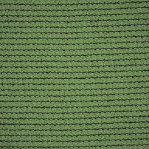 Green #S92 Stripe Double Face Jersey Knit Fabric