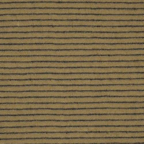 Khaki #S92 Stripe Double Face Jersey Knit Fabric