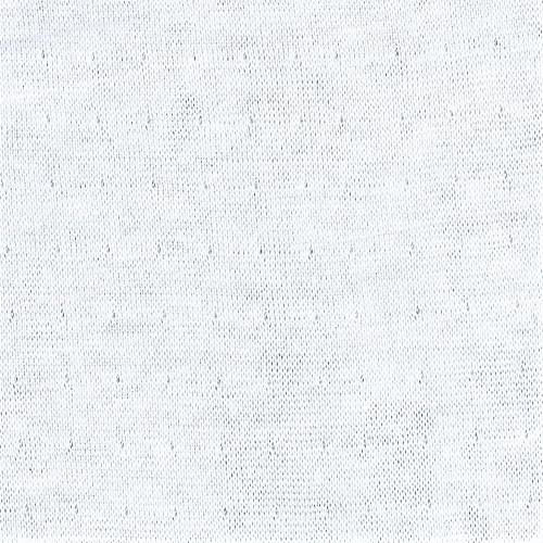 White #S92 Eyelet Double Face Jersey Knit Fabric