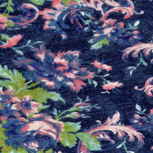 Navy #S912 Paisley Burnout Jersey Print Knit Fabric - SKU 5459A