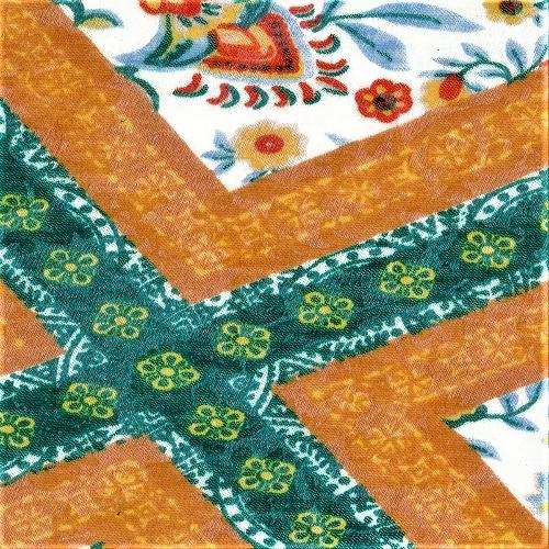 Orange #S909 Tile Burnout Jersey Print Knit Fabric