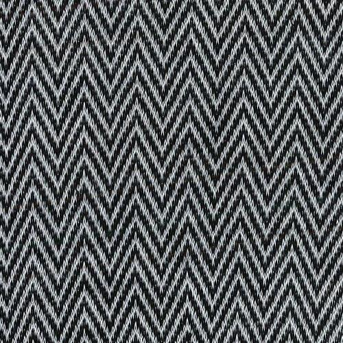 Black/Grey #S Herringbone Jersey Jacquard Knit Fabric - SKU 5464