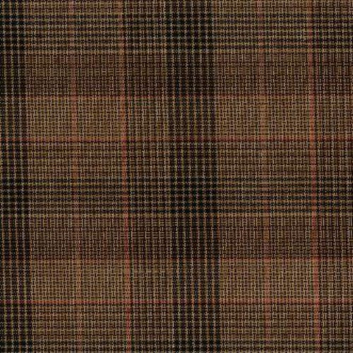 Brown #S18 Suiting Plaid Woven Fabric #S73 - SKU 5602