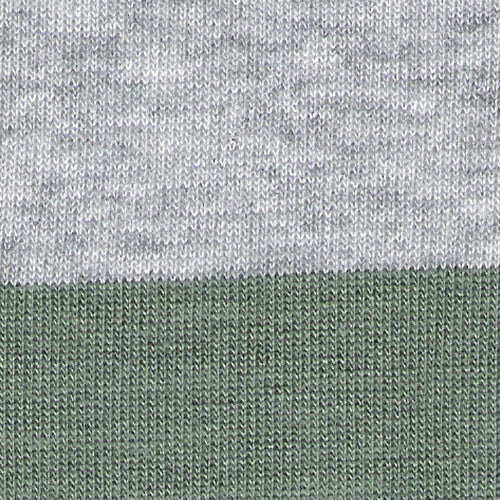 Grey Heather/Green 2 Stripe Jersey Knit Fabric""