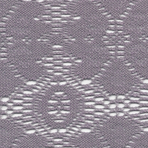 Dusty Lilac (A) Crochet Lace Knit Fabric